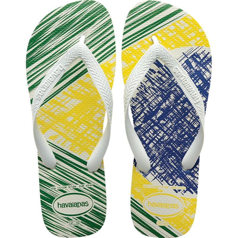 ca33d1d93e sandalia havaiana 2017 brasil print branco 35 36. Carregando zoom.
