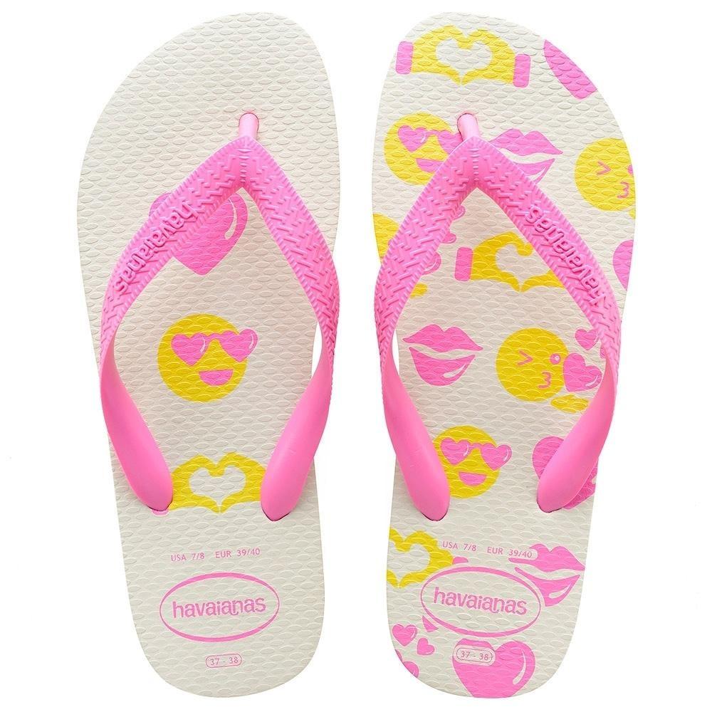 32bb9e153c799 sandália havaianas color silk branco   rosa 35 36. Carregando zoom.