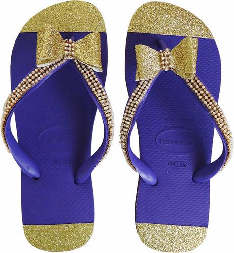 sandália havaianas customizadas