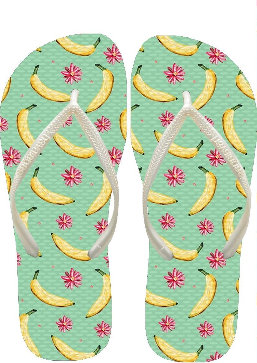 e6daa31735 Sandália Havaianas Slim Bananas Feminino Correia Fina Branco - R  55 ...