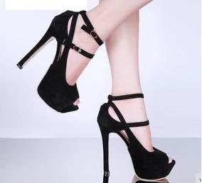 1b6dc00ee Sexy Ladies Vogue Sandálias De Salto Alto Sapatos Plataforma - Calçados,  Roupas e Bolsas no Mercado Livre Brasil