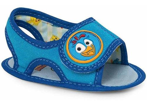 sandália infantil baby azul - galinha pintadinha