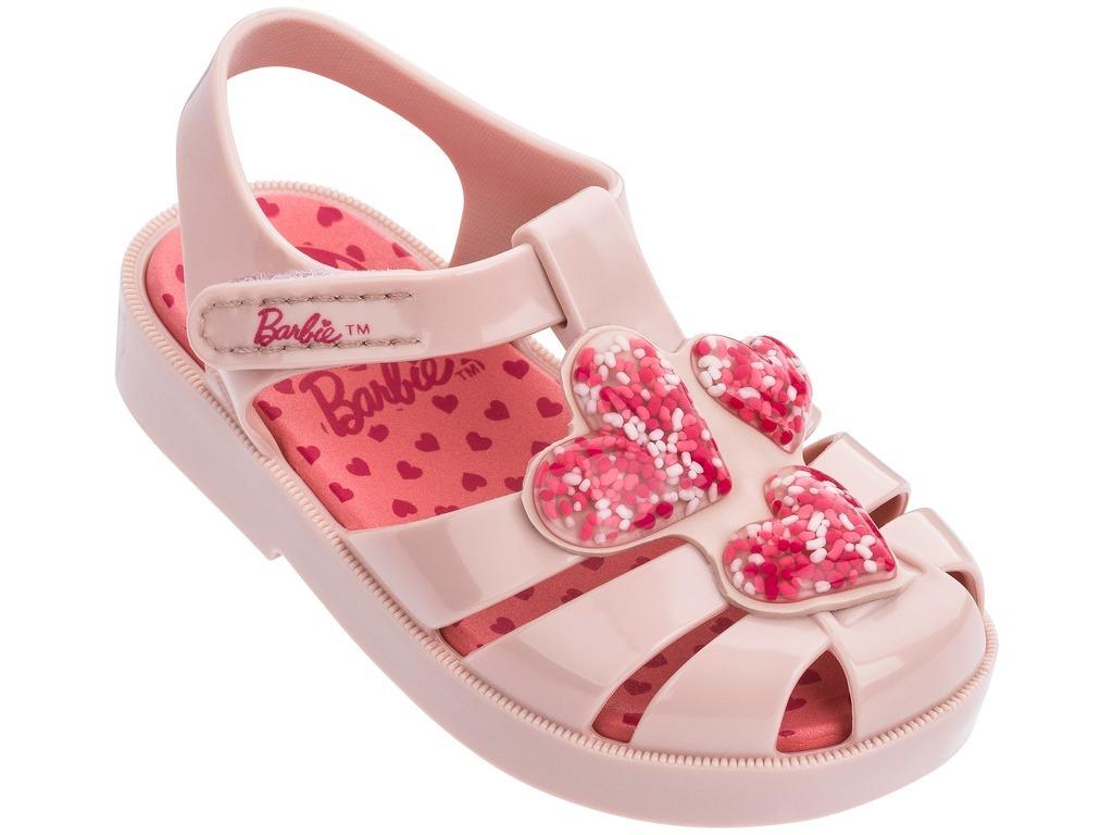 760bc6fdd sandália infantil barbie love corações. Carregando zoom.