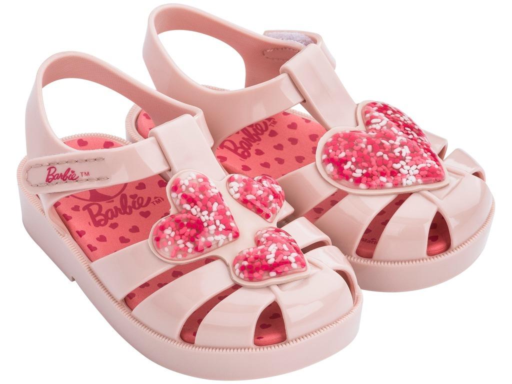 7ead2bac9 sandália infantil barbie love nude corações. Carregando zoom.