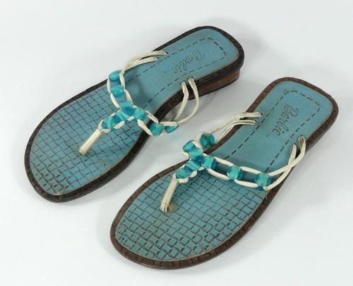 sandalia infantil da barbie em couro   cor   azul   -  nº 27