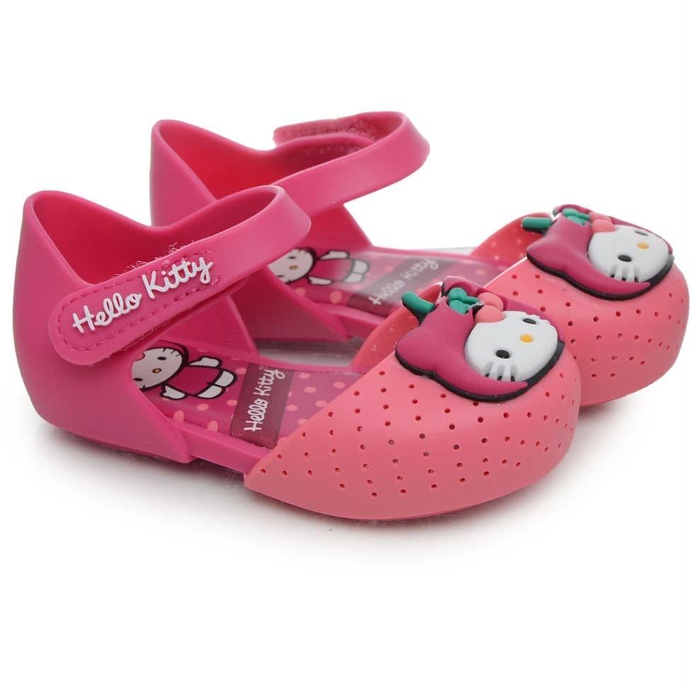 4e7d88db23 Sandália Infantil Feminina 21198 My Fruit Hello Kitty Pink - R  29 ...