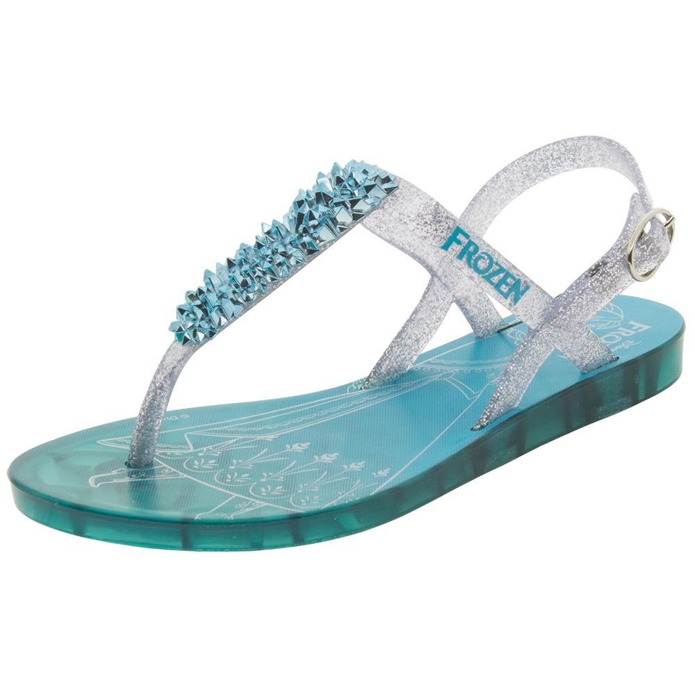 132cfa75b6 sandália infantil feminina frozen castelo real azul grendene. Carregando  zoom.