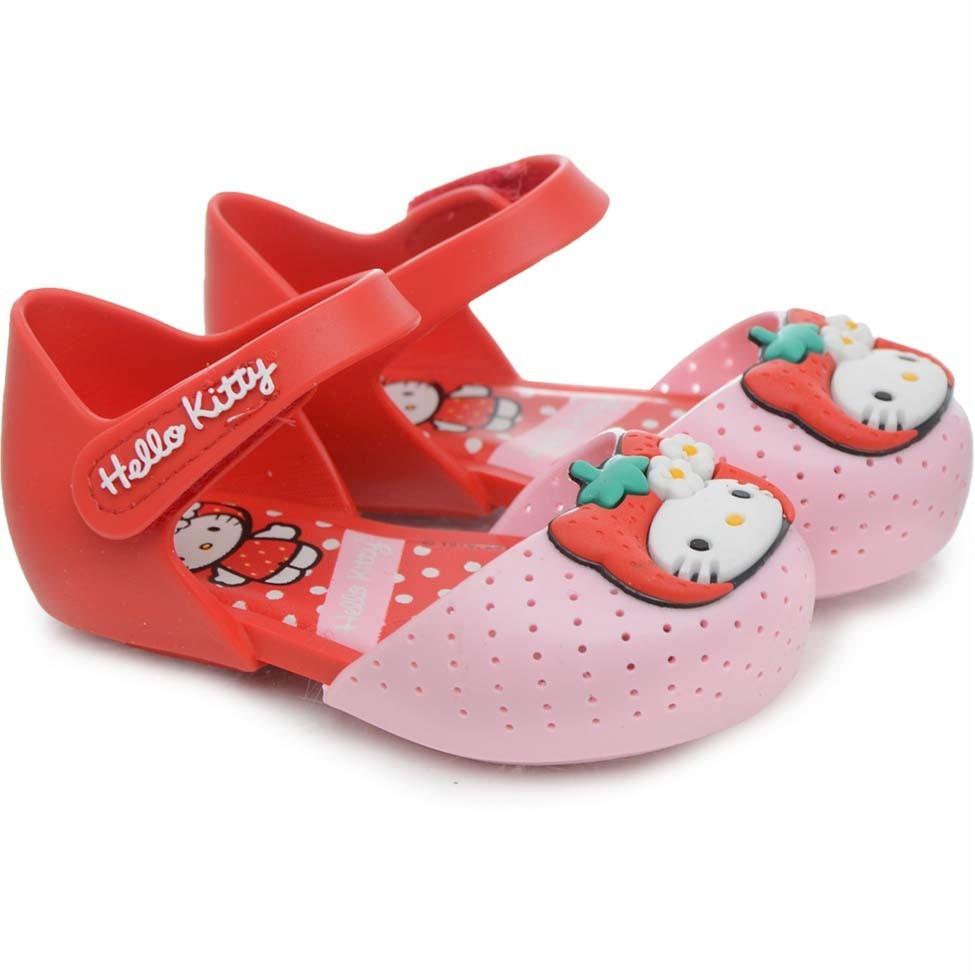 74e276c473 sandália infantil feminina my fruit hello kitty red - 21198. Carregando  zoom.