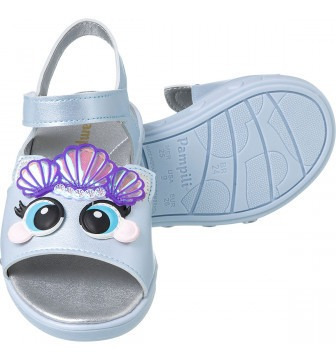 sandália infantil feminina pampili dots luz led  448016 novo