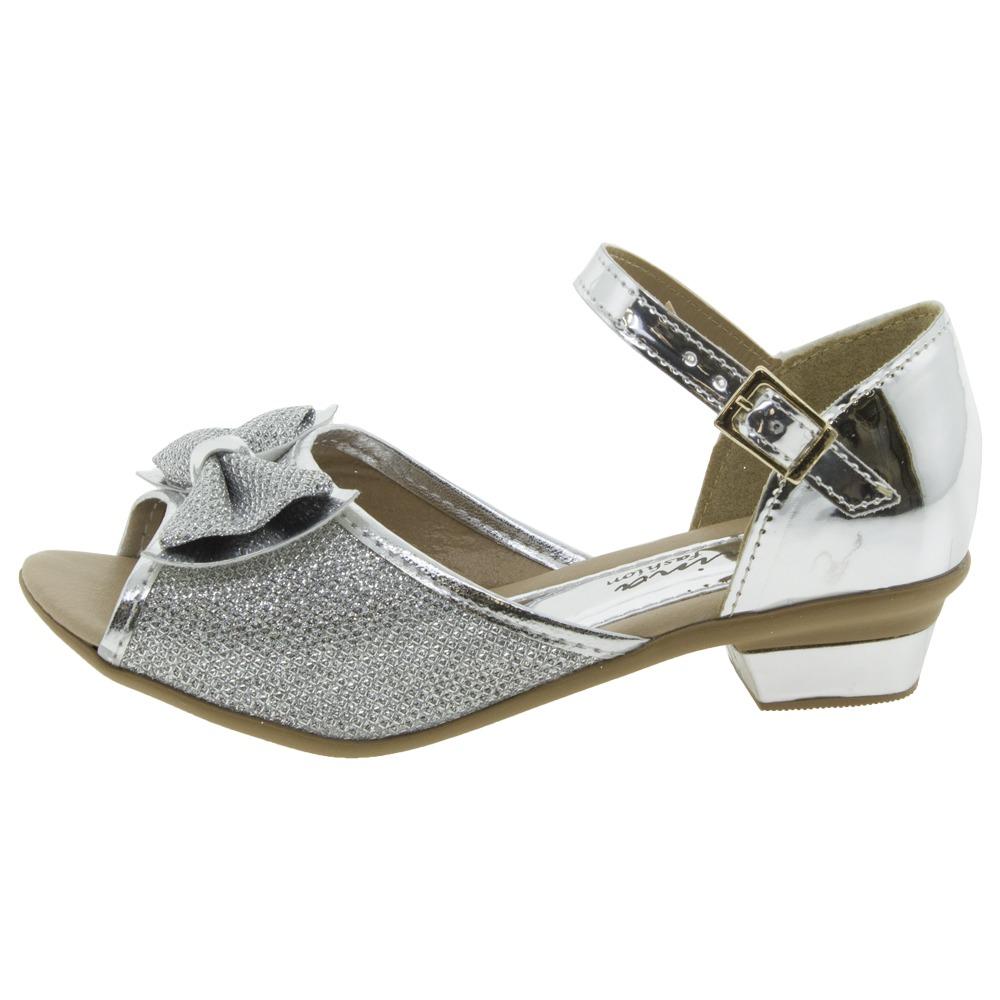 ac050e59fc sandália infantil feminina prata menina fashion - 6828. Carregando zoom.