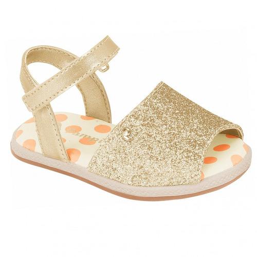 sandália infantil feminino flor espadrilhe glitter