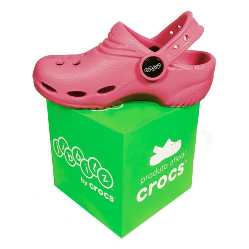 sandália infantil jibbitz by crocs chandler rosa pink