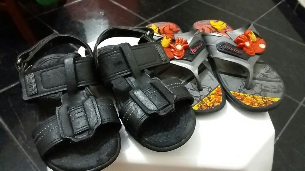 dc36511e4 sandália infantil klin 27 + chinelo homem de ferro. Carregando zoom.