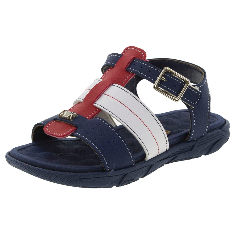 f793ba3b5e sandália infantil masculina marinho molekinho - 2135104. Carregando zoom.