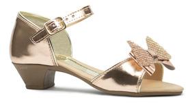43e7155378aaa Sandalia Salto Grosso Passarela - Sapatos para Meninas Ocre com o ...