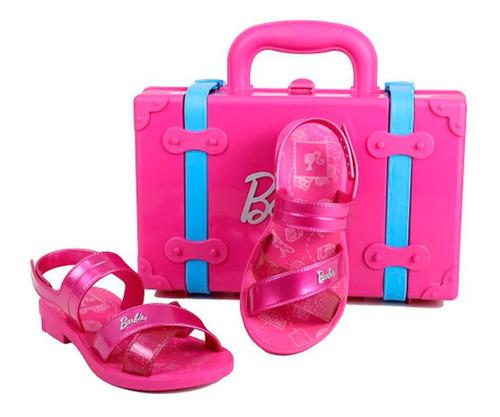 sandalia infantil menina grendene barbie trip bag ref:22025