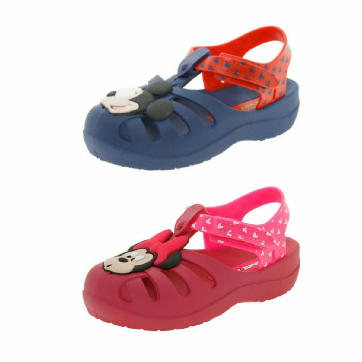 988201669 sandália infantil meninos e meninas mickey minnie grendene. Carregando zoom.