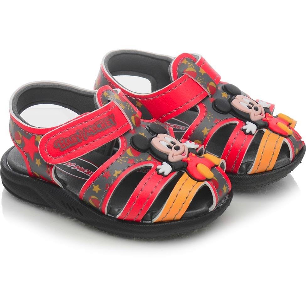 8d66b0147 sandália infantil mickey vermelha - grendene kids. Carregando zoom.