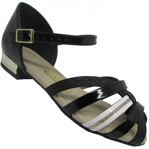 sandália infantil molekinha glitter feminina