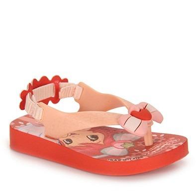 sandália infantil moranguinho baby com elastico frete gratis