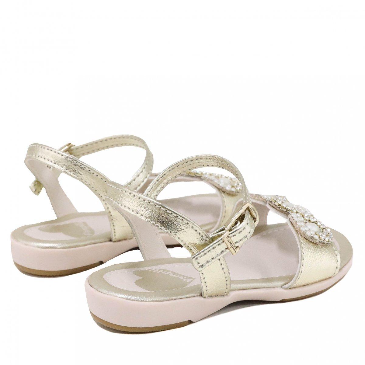 55ff209f9d sandália infantil pampili pedras dourado 60456. Carregando zoom.
