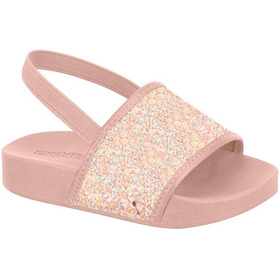 Sandália Infantil Slide Molekinha Glitter - Baby 2125.100
