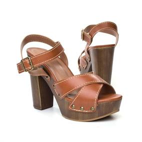 a0879aed3c Sandalias Francesinha Anos 70 - Sapatos Marrom no Mercado Livre Brasil