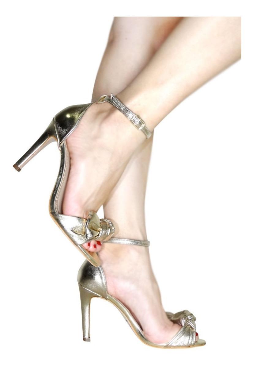 560f3d695 sandalia laço festa branca e dourada champagne salto alto. Carregando zoom.
