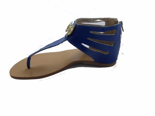 sandália lançamento em couro tamanho grande trends 4 pares