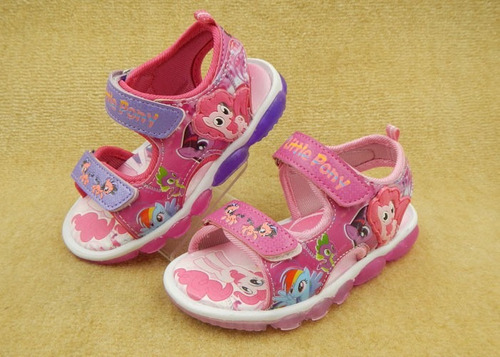 sandalia led diseño pony little para niña (por encargue)
