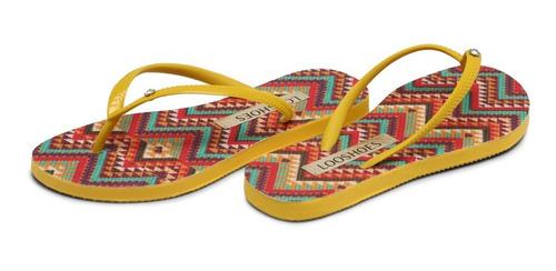 sandália looshoes slim amarelo lf 100