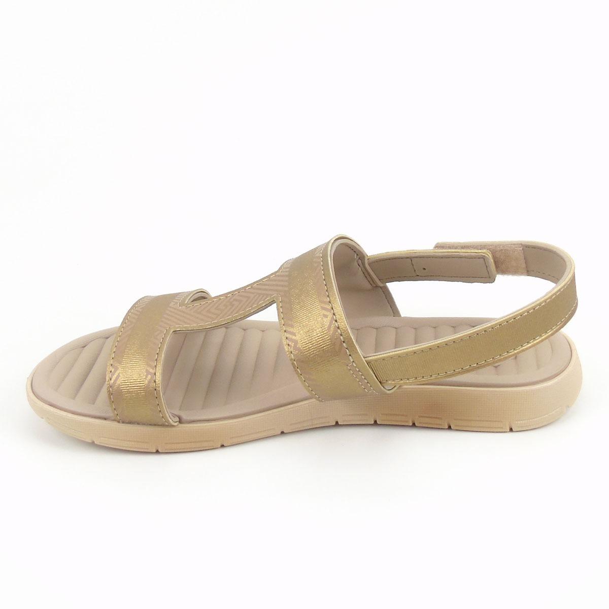 a6bb2aeb67 sandália macia rasteira grendha na cor dourado sense soft ii. Carregando  zoom.