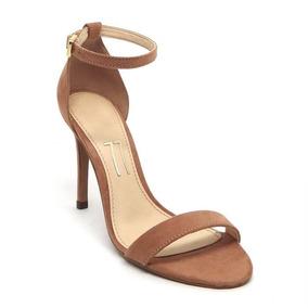 d682956115 Sandalia Salto Fino Tirinha - Sapatos no Mercado Livre Brasil