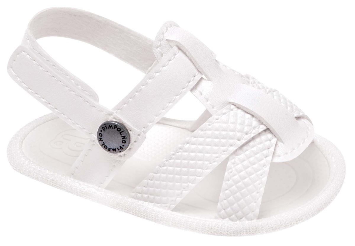 03b817203ab15 Sandália Masculina Branca Pimpolho 0017319c - R$ 42,00 em Mercado Livre