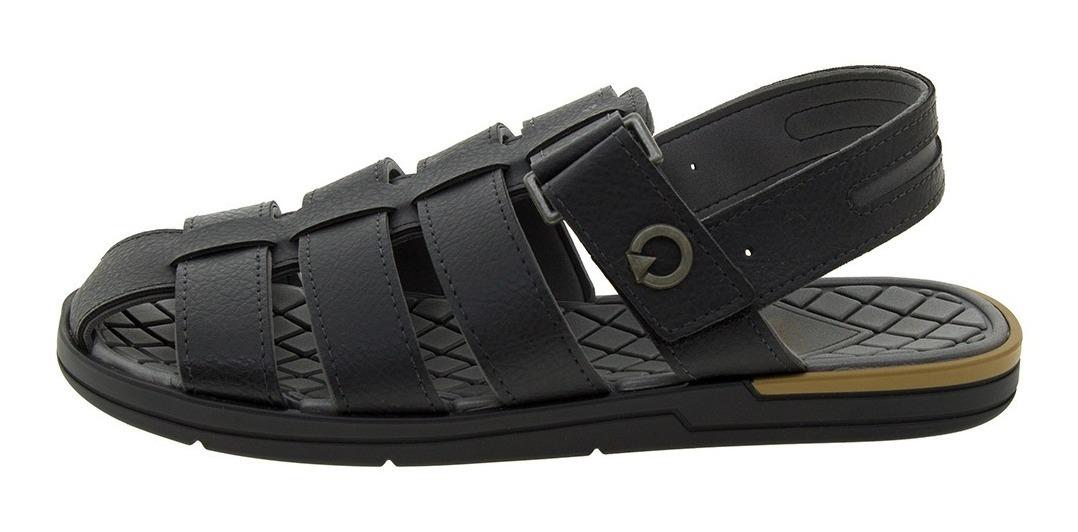 56d92bf7ad sandália masculina cannes preta cartago - 11338. Carregando zoom.