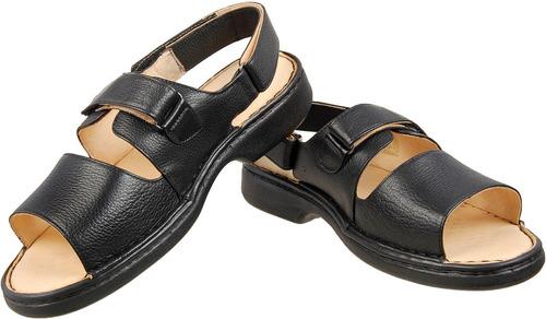 sandalia masculina couro antistress indicado diabetico  653