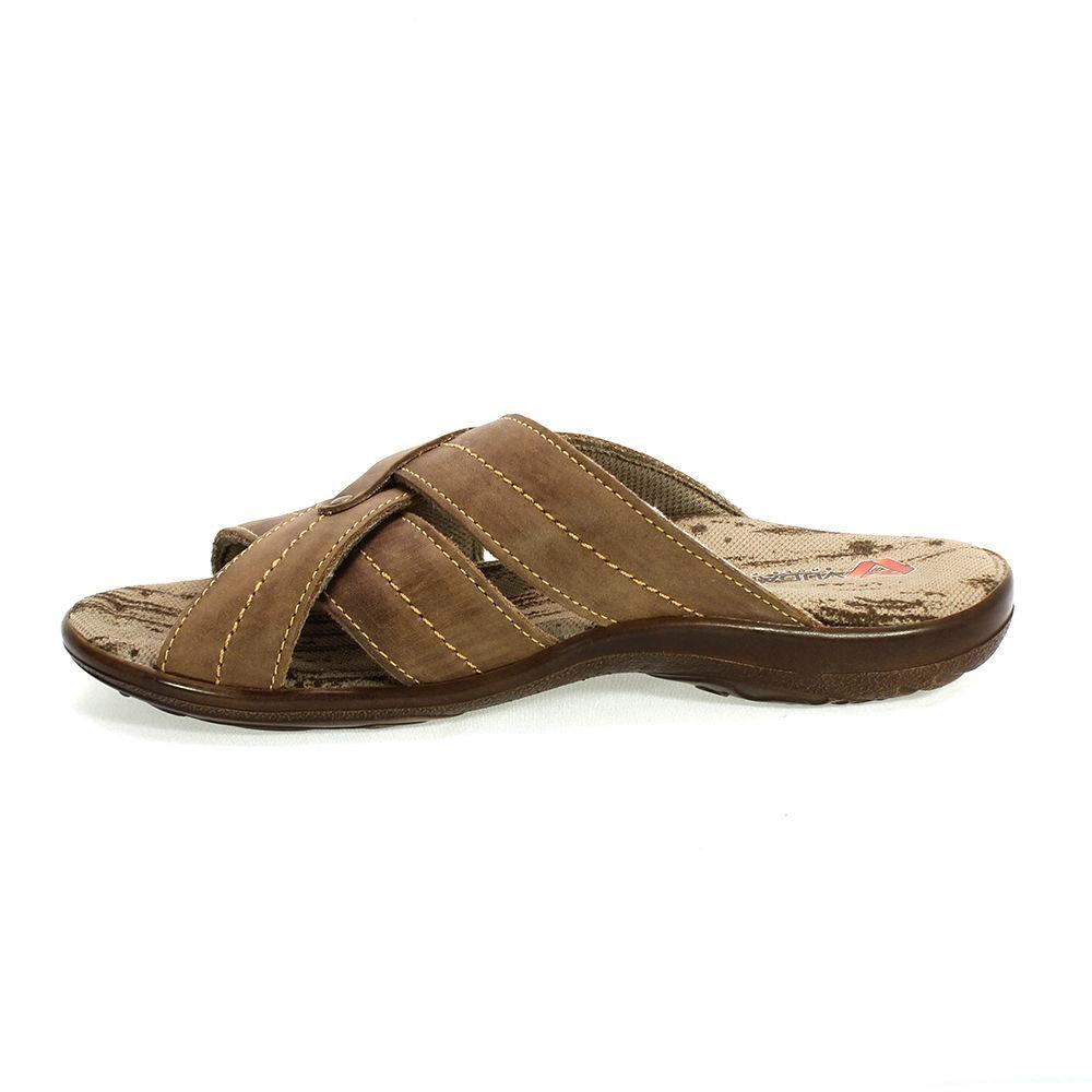 f7829df2a sandália masculina em couro castor marrom vudalfor. Carregando zoom.