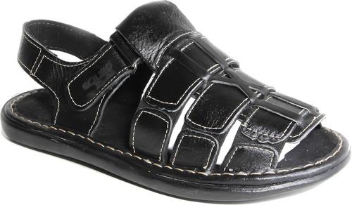 sandalia  masculino em couro legítimo preço de fabrica
