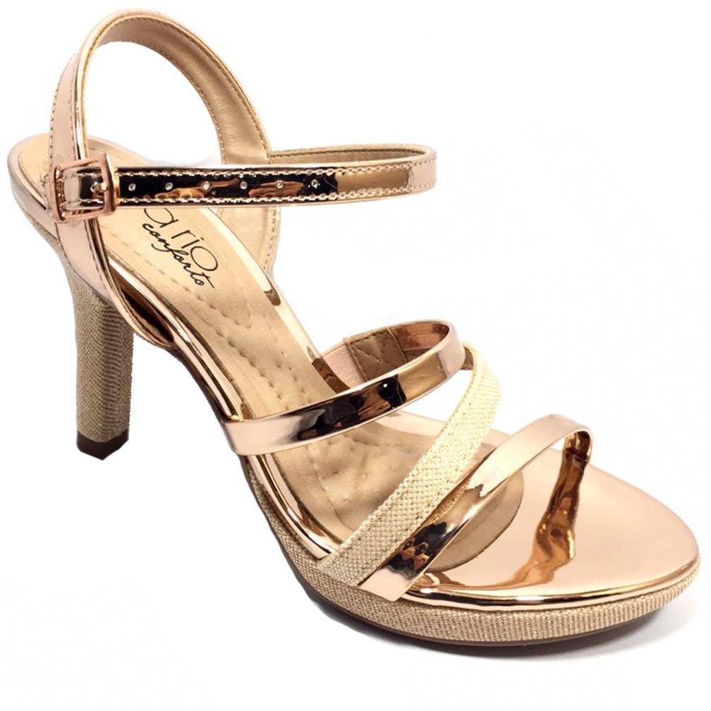 e1b46af2e4 sandália meia pata beira rio verniz metal - ouro rosado. Carregando zoom.