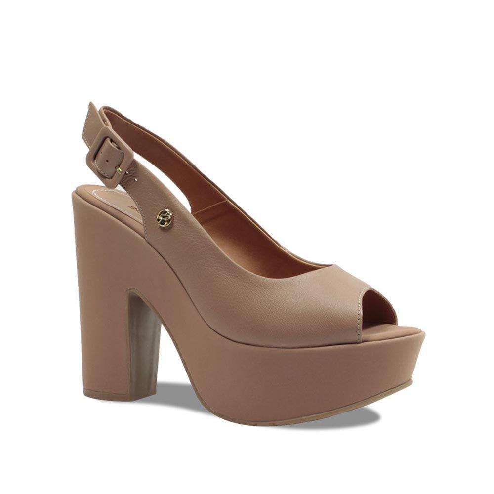 62649db29a sandália meia pata bottero feminina em couro 293804 nude. Carregando zoom.