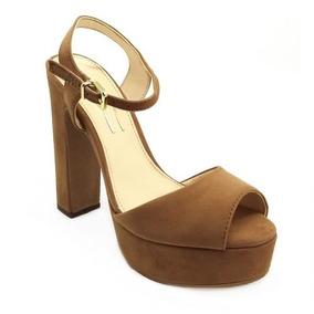 8f02796ed Sandalias Meia Pata Salto Grosso Na Cor Caramelo Feminino - Sapatos com o  Melhores Preços no Mercado Livre Brasil