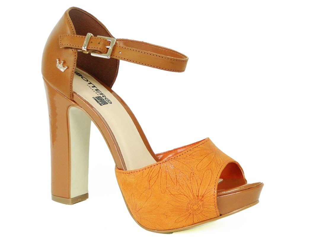 9bc7971d79 sandália meia pata com desenho floral bottero. Carregando zoom.