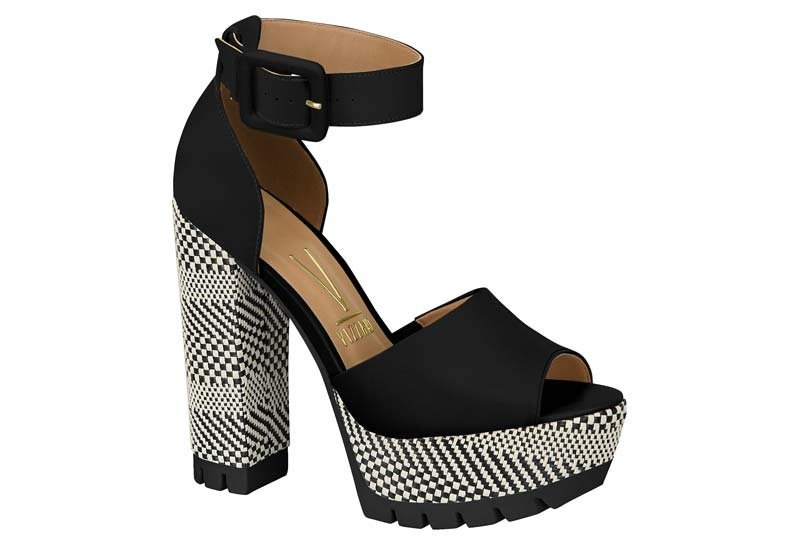 df73ea9562 sandália meia pata feminina vizzano pelica preto 6373107. Carregando zoom.