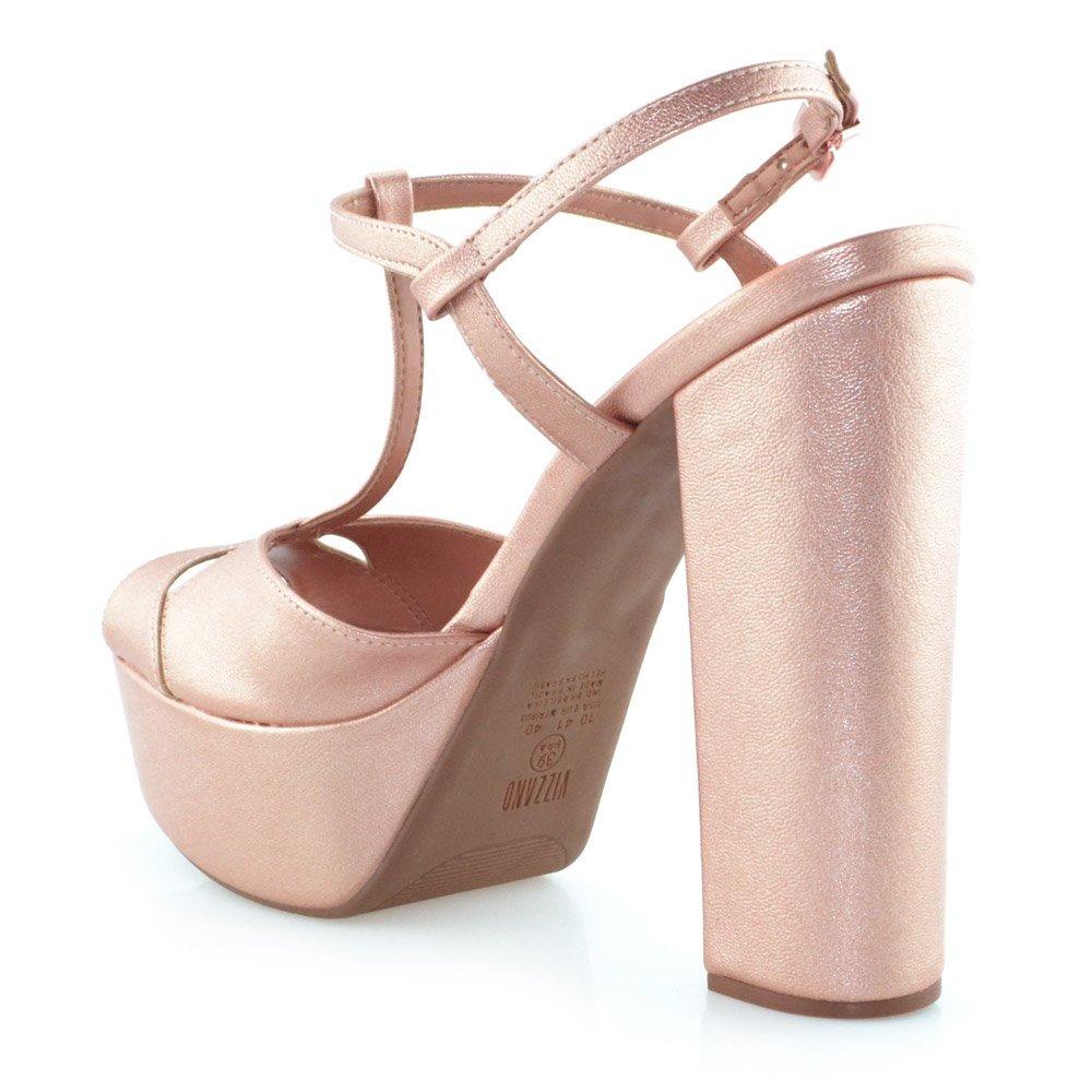 ece8a0c0ff sandália meia pata metalizada vizzano 6282125 - godiva. Carregando zoom.