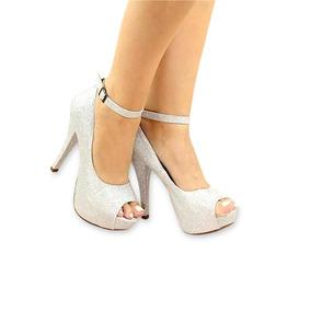 63881a0933 Sandalia Daphinis Meia Pata Prata Feminino - Sapatos no Mercado Livre Brasil