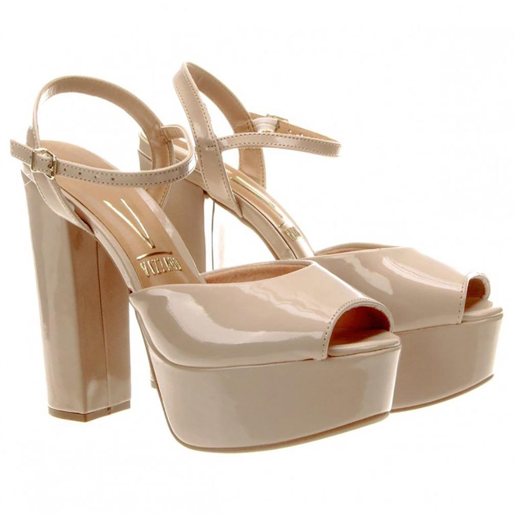 f237a844bd sandália meia pata vizzano verniz bege feminina - 6282.100. Carregando zoom.