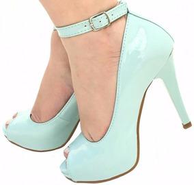 f98b2cb794 Sapato Verde Agua Salto - Sapatos no Mercado Livre Brasil