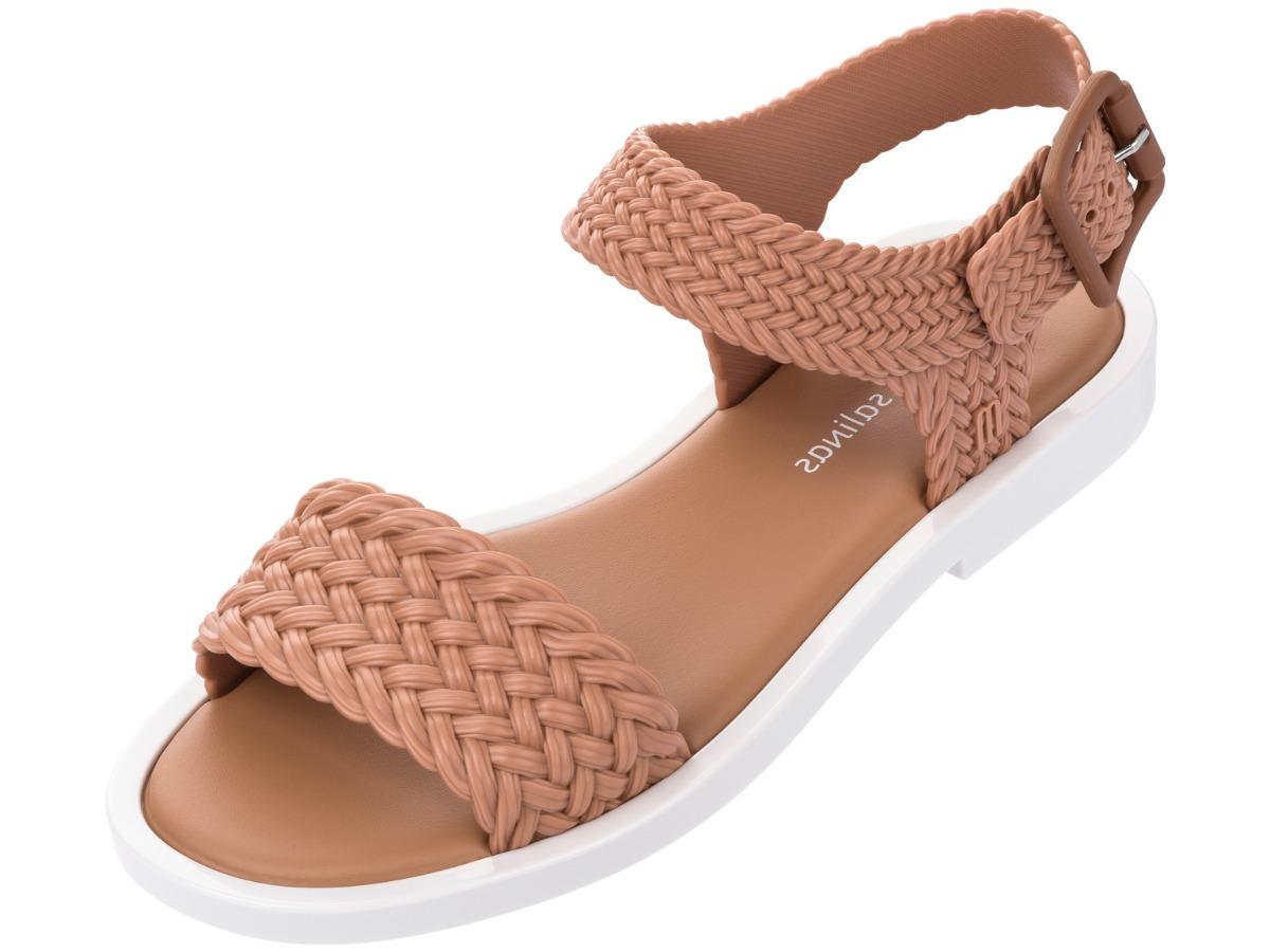 2fcac8c38 sandália melissa mar sandal + salinas marrom e branco. Carregando zoom.