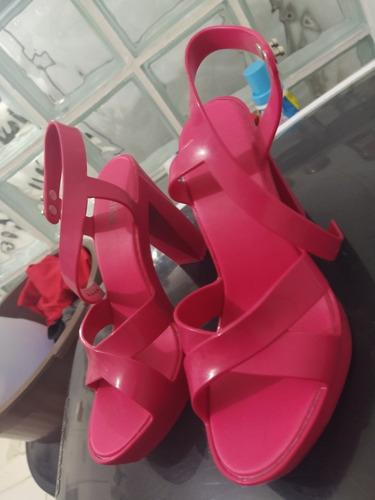 sandália melissa rosa pink