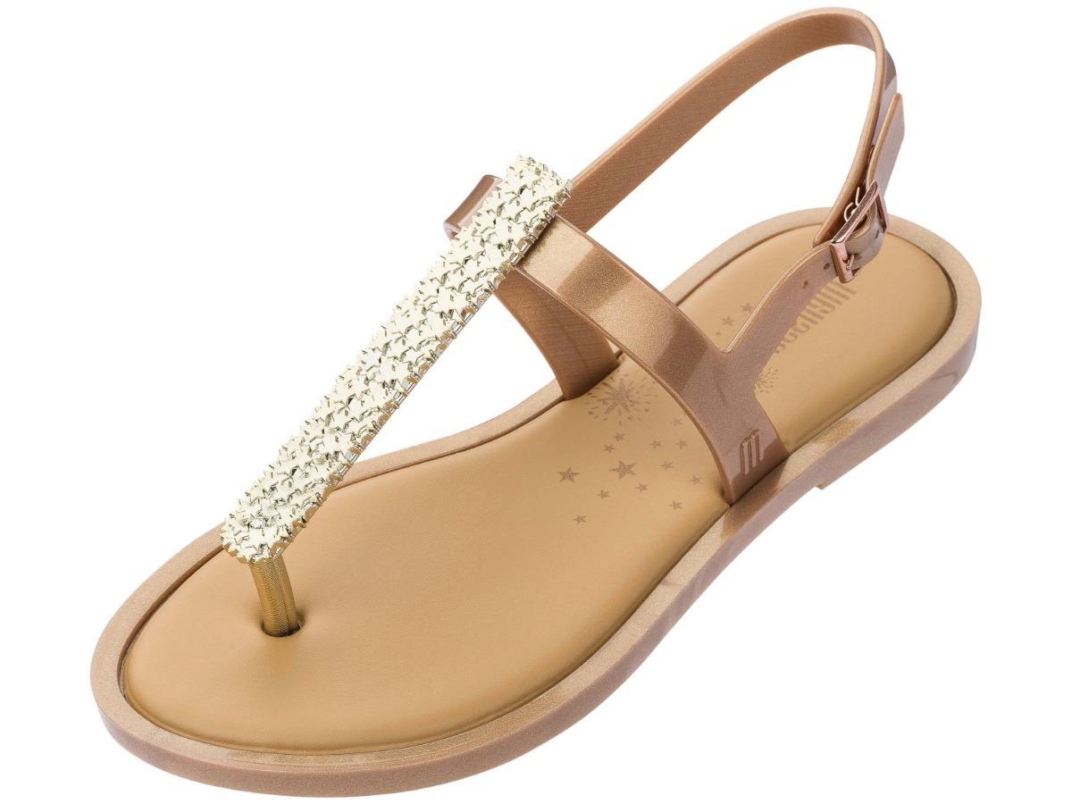 ec0492f15928 sandália melissa slim sandal ii dourada. Carregando zoom.